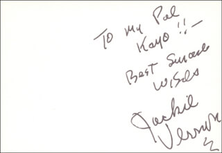 JACKIE VERNON - AUTOGRAPH NOTE SIGNED