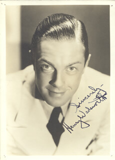 HENRY WADSWORTH - AUTOGRAPHED SIGNED PHOTOGRAPH