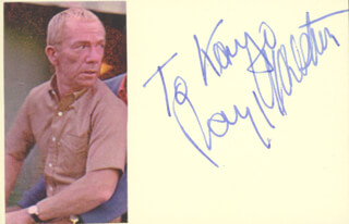RAY WALSTON - INSCRIBED SIGNATURE
