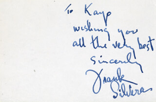 FRANK SILVERA - AUTOGRAPH NOTE SIGNED