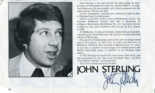 JOHN STERLING - MAGAZINE PHOTOGRAPH SIGNED