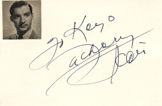 ZACHARY SCOTT - INSCRIBED SIGNATURE