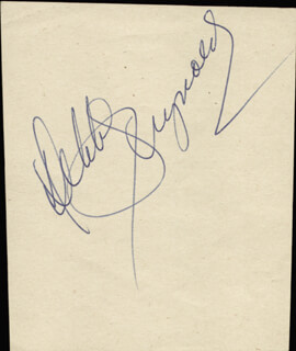 DEBBIE REYNOLDS - AUTOGRAPH CO-SIGNED BY: GRETA THYSSEN