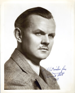 LAWRENCE TIBBETT - AUTOGRAPHED SIGNED PHOTOGRAPH 1943