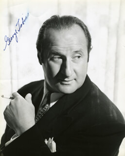 GEORGE TOBIAS - AUTOGRAPHED SIGNED PHOTOGRAPH
