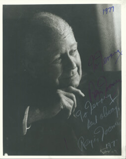 REGIS TOOMEY - AUTOGRAPHED SIGNED PHOTOGRAPH 1977