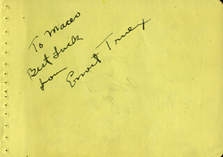 ERNEST TRUEX - AUTOGRAPH NOTE SIGNED