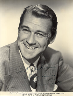 SONNY TUFTS - AUTOGRAPHED INSCRIBED PHOTOGRAPH