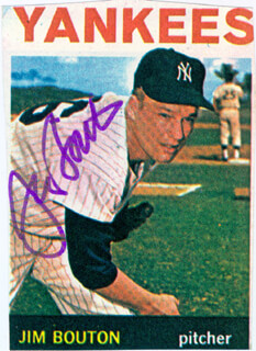 JIM BOUTON - MAGAZINE PHOTOGRAPH SIGNED