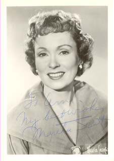 MARTHA SCOTT - AUTOGRAPHED SIGNED PHOTOGRAPH
