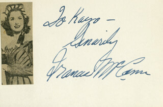 FRANCES MCCANN - AUTOGRAPH NOTE SIGNED CO-SIGNED BY: BETTY GEORGE