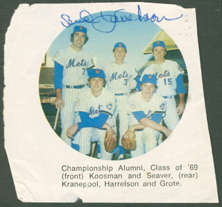 BUD HARRELSON - MAGAZINE PHOTOGRAPH SIGNED