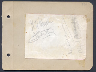 HENRY BYRON H. B. WARNER - AUTOGRAPH CO-SIGNED BY: A. V. BRAMBLE, CLAUDE KING, DON BRADMAN