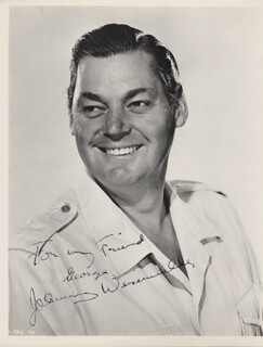 JOHNNY WEISSMULLER - AUTOGRAPHED INSCRIBED PHOTOGRAPH