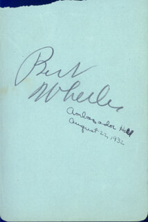 BERT WHEELER - AUTOGRAPH CO-SIGNED BY: DOROTHY JORDAN, DONALD DILLAWAY