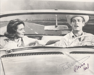 HUD MOVIE CAST - AUTOGRAPHED SIGNED PHOTOGRAPH CO-SIGNED BY: PATRICIA NEAL, PAUL NEWMAN