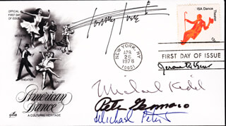 MICHAEL KIDD - FIRST DAY COVER SIGNED CO-SIGNED BY: MICHAEL PETERS, TOMMY TUNE, JEROME ROBBINS, PETER GENNARO