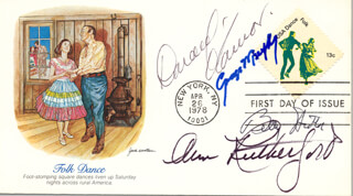 BETTY HUTTON - FIRST DAY COVER SIGNED CO-SIGNED BY: GEORGE MURPHY, ANN RUTHERFORD
