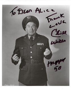CHILL WILLS - AUTOGRAPHED SIGNED PHOTOGRAPH