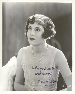 LOIS WILSON - AUTOGRAPHED SIGNED PHOTOGRAPH