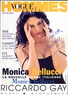 MONICA BELLUCCI - AUTOGRAPHED SIGNED PHOTOGRAPH