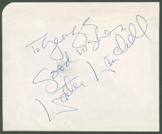 WALTER KING OF BROADWAY WINCHELL - AUTOGRAPH NOTE SIGNED
