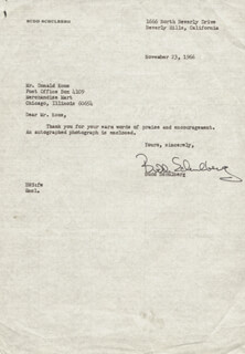 BUDD SCHULBERG - TYPED LETTER SIGNED 11/23/1966