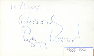 PEGGY WOOD - AUTOGRAPH NOTE SIGNED