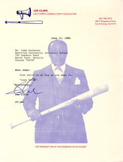 Autographs: JOE CLARK - TYPED NOTE SIGNED 06/12/1990