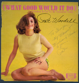 Autographs: PAT WOODELL - INSCRIBED RECORD ALBUM SLEEVE SIGNED