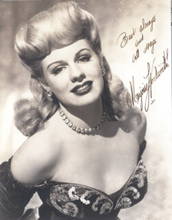 MARJORIE WOODWORTH - AUTOGRAPHED SIGNED PHOTOGRAPH