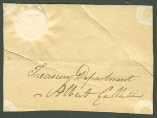 Autographs: ALBERT GALLATIN - CLIPPED SIGNATURE