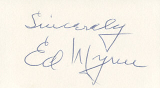 ED WYNN - AUTOGRAPH SENTIMENT SIGNED