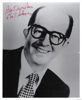 PHIL SILVERS - AUTOGRAPHED SIGNED PHOTOGRAPH  - HFSID 221498