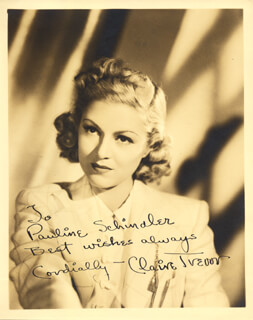 CLAIRE TREVOR - AUTOGRAPHED INSCRIBED PHOTOGRAPH
