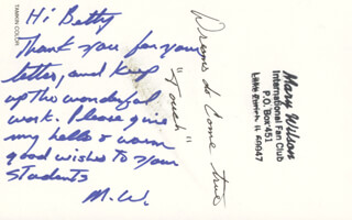 Autographs: THE SUPREMES (MARY WILSON) - AUTOGRAPH NOTE ON PHOTOGRAPH SIGNED