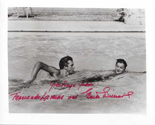 ESTHER WILLIAMS - AUTOGRAPHED SIGNED PHOTOGRAPH CO-SIGNED BY: FERNANDO LAMAS