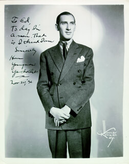 HENNY YOUNGMAN - AUTOGRAPHED INSCRIBED PHOTOGRAPH 11/20/1936