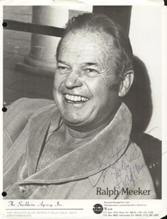 RALPH MEEKER - PRINTED PHOTOGRAPH SIGNED IN INK