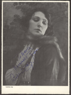 LEATRICE JOY - AUTOGRAPHED SIGNED PHOTOGRAPH