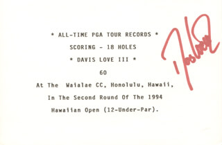 DAVIS LOVE III - TYPESCRIPT SIGNED