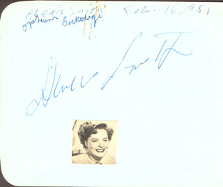 ALEXIS SMITH - AUTOGRAPH 02/16/1951 CO-SIGNED BY: AUDREY TOTTER