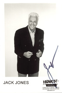 JACK JONES - AUTOGRAPHED SIGNED PHOTOGRAPH