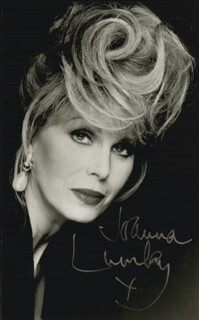JOANNA LUMLEY - AUTOGRAPHED SIGNED PHOTOGRAPH