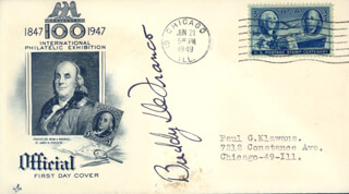 BUDDY DEFRANCO - FIRST DAY COVER SIGNED
