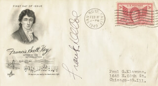 FRANK DE VOL - FIRST DAY COVER SIGNED