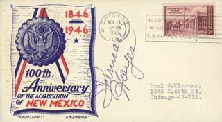 SHERMAN HAYES SR. - COMMEMORATIVE ENVELOPE SIGNED