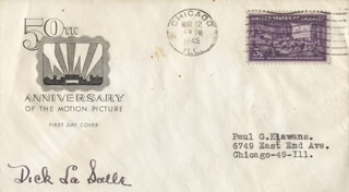 DICK LASALLE - FIRST DAY COVER SIGNED