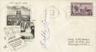 SABBY LEWIS - FIRST DAY COVER SIGNED