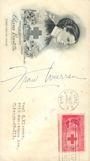 FRAN WARREN - FIRST DAY COVER SIGNED